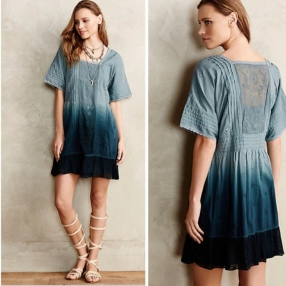 804b7a494b37 Anthropologie Dresses & Skirts - Holding Horses Ocean Dip Dye Ombre dress, size  XS